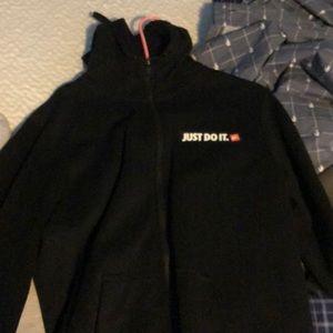 Black nike zip hoodie